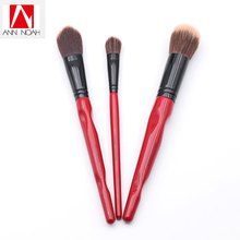 Limited Edition Soft Synthetic 3pcs Angled Powder Highlighting Stippling Foundation Makeup Brush Set