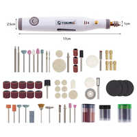 Electric Mini Drill Power Tools Manicure Machine For Dremel Tool 0.3-3.2mm With Grinding Accessories Set Mini Engraving Pen