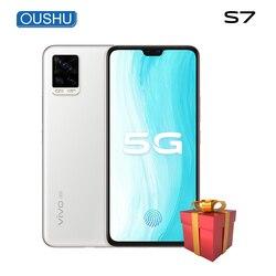 Оригинальный 5G смартфон vivo S7 8G 128G Snapdragon76 5G 64MP тройные задние камеры 6,44 ''AMOLED экран Celular Face ID мобильный телефон