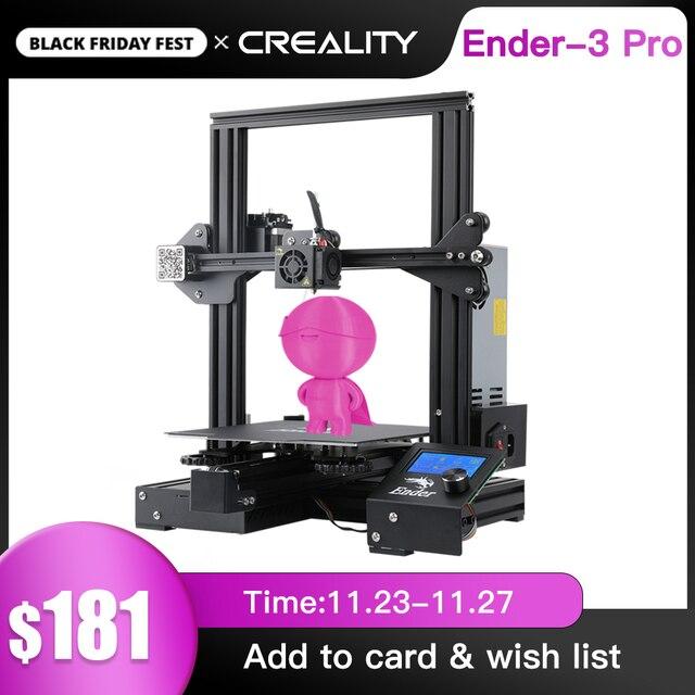 CREALITY 3Dเครื่องพิมพ์Ender 3 PROเครื่องพิมพ์ชุดพิมพ์หน้ากากยี่ห้อMWแก้วตัวเลือก3D Drucker Impresoraเครื่องพิมพ์ชุด