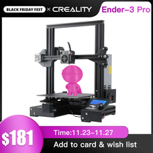 Imprimante 3D de crealité Ender 3 KIT dimprimante PRO masque dimpression avec option de verre de puissance de marque MW Kit dimprimante 3D Drucker Impresora