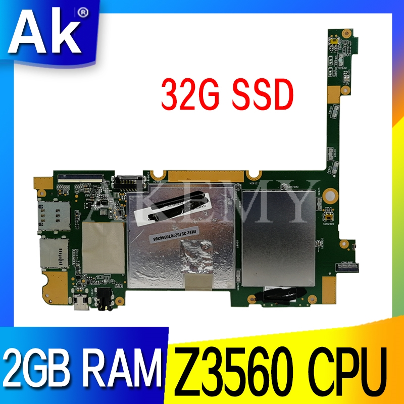 NEW original 90NP01T0-R00010 60NP01T0-MB5100 for ASUS ZenPad 10 Z300CL tablet motherboard 32G SSD 2GB RAM Z3560 CPU Mainboard