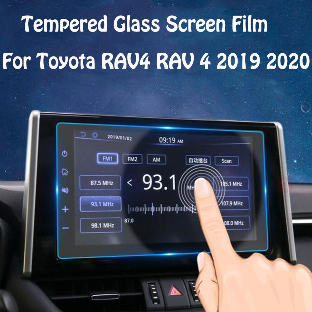 GPS Navigation Tempered Glass Screen Protector Car Central Control Screen Protective Film For Toyota RAV4 RAV 4 2019 2020