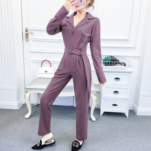 Spring Autumn Women Fashion Elegant Office Workwear Casual Jumpsuits