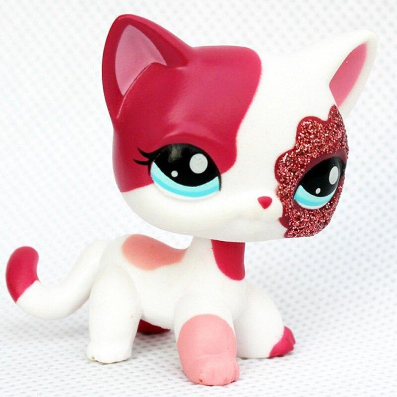 Лпс стоячки кошки Игрушки для кошек lps, редкие подставки, маленькие короткие волосы, котенок, розовый#2291, серый#5, черный#994,, коллекция фигурок для питомцев - Цвет: 2291
