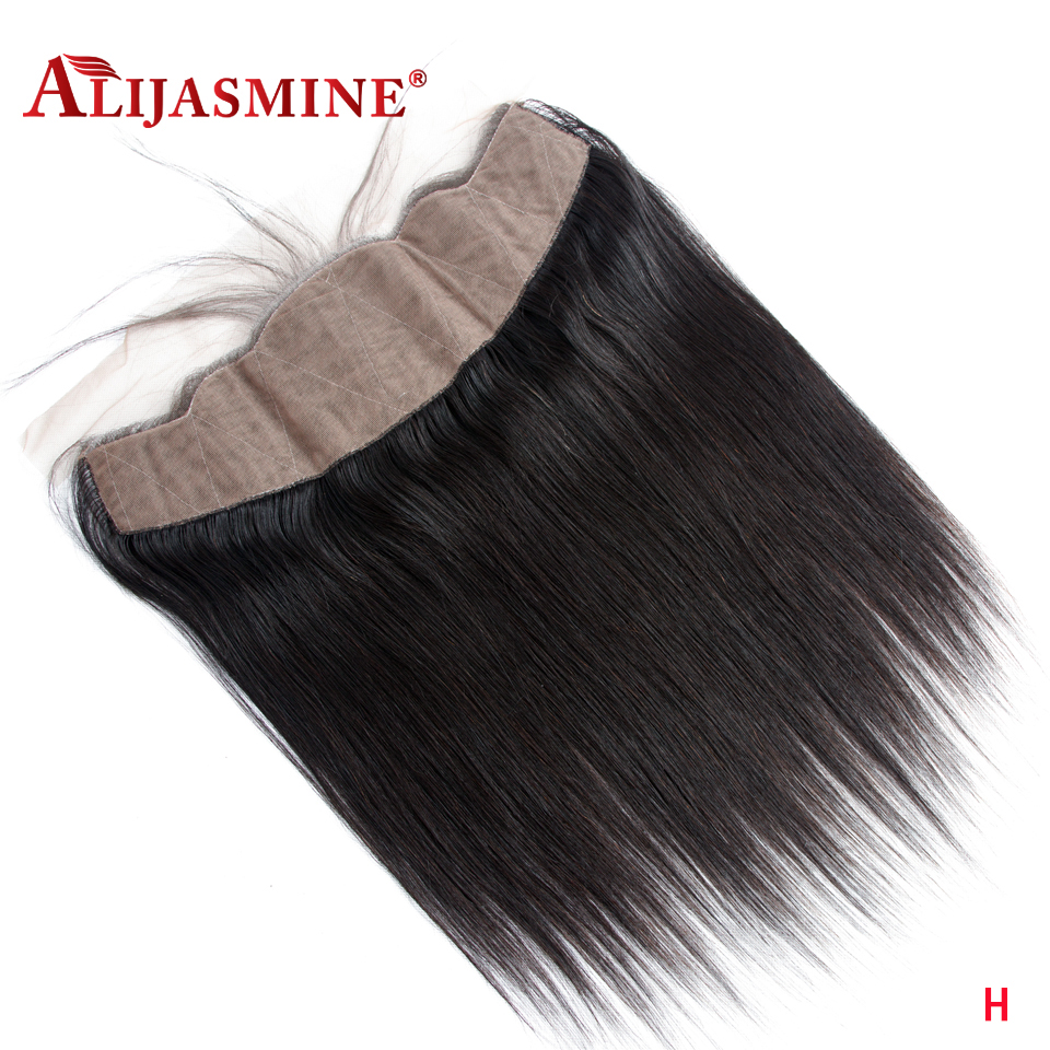 AliJasmine Brazilian Straight 13X4 Silk Base Lace Frontal Closure With Baby Hair Free Part Human Hair Remy Hair Free Shipping