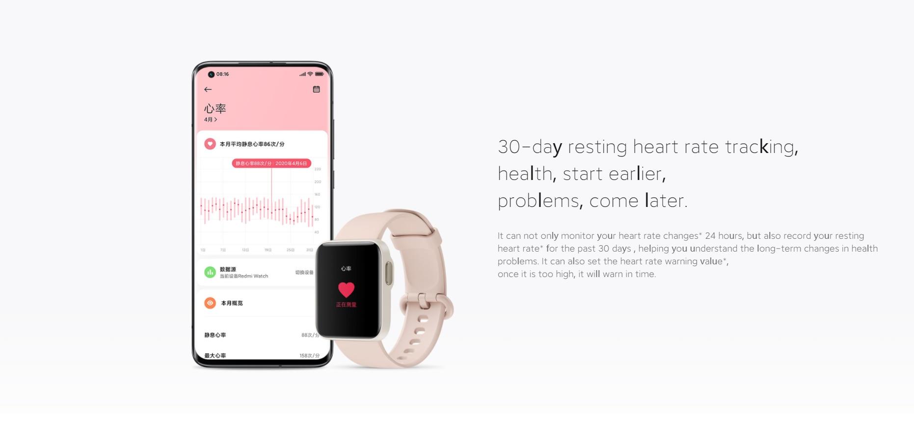 redmi relógio inteligente pulseira