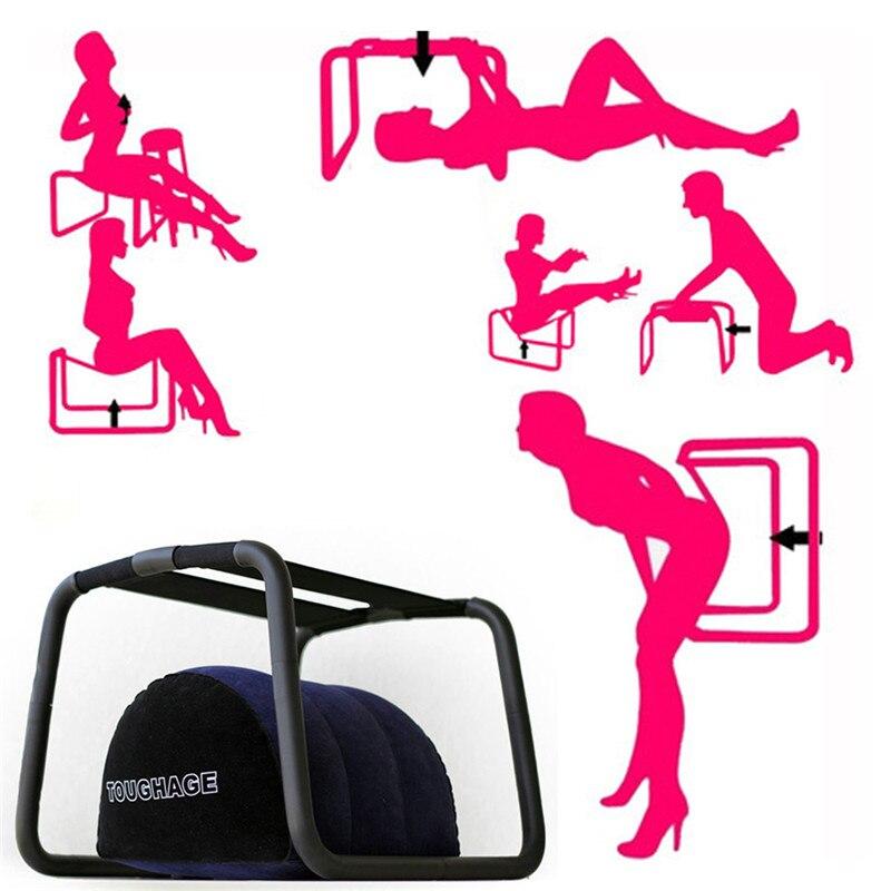 БДСМ бондаж игры для взрослых секс-стул с мягкой надувной подушкой секс-помощь для женщин подушка для положения любви секс-мебель эротическ...