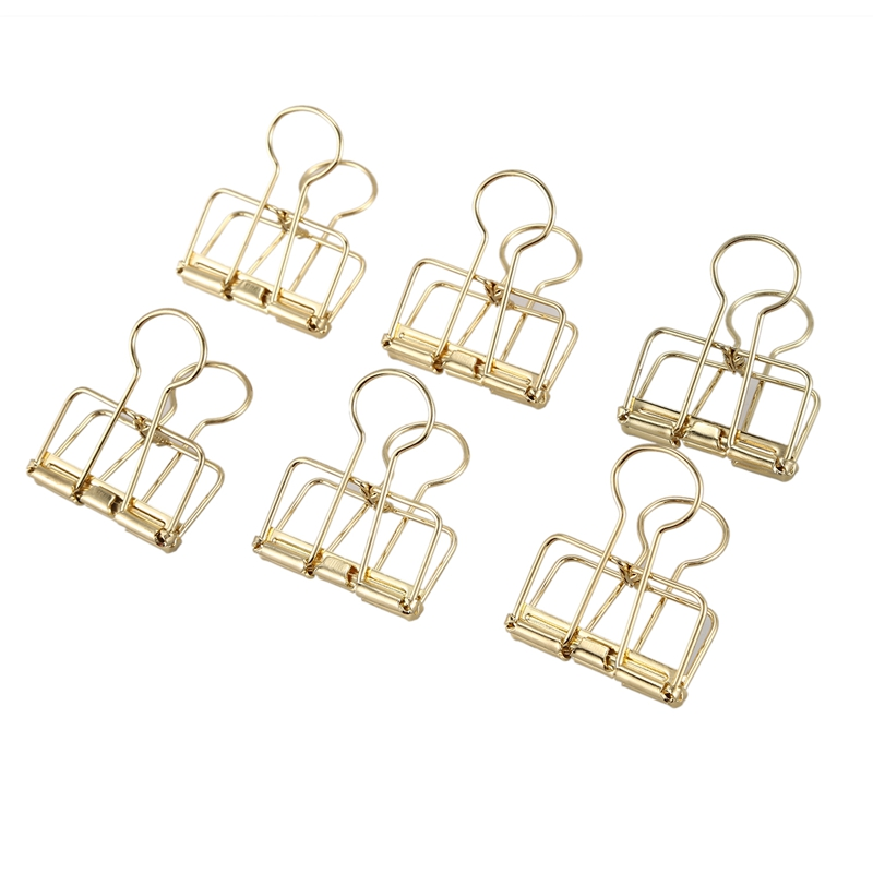 Gold Wire Clips, Paper-Clips
