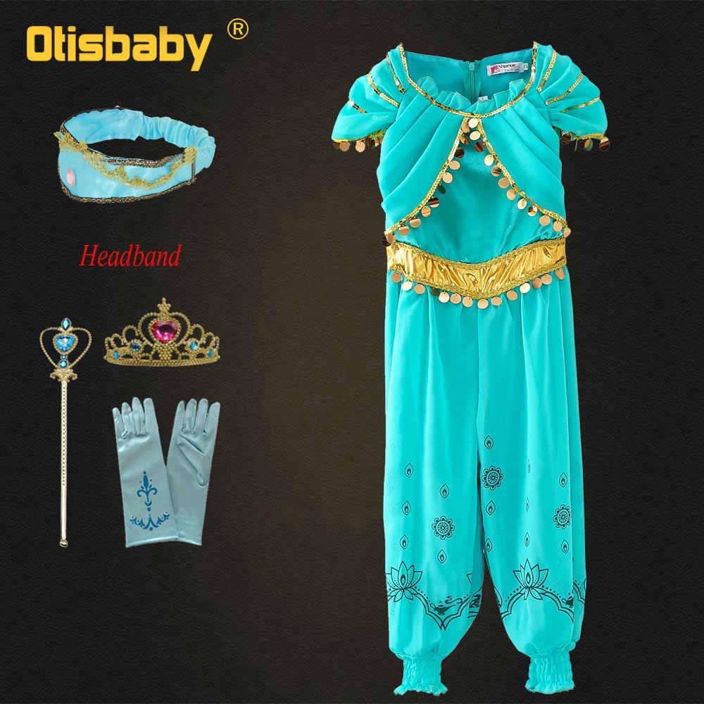 Details about  /Christmas Costume Girls Jasmine Dress Up Girls Arabian Clothing Birthday Gif