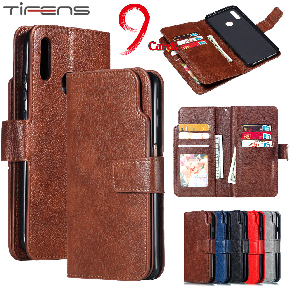 Luxury Wallet Flip P Smart <font><b>Y6</b></font> Y7 Y9 <font><b>2019</b></font> Case For <font><b>Huawei</b></font> Mate 30 20 10 Lite Pro Leather Multi-Card Slot Stand Phone Cover Fundas image
