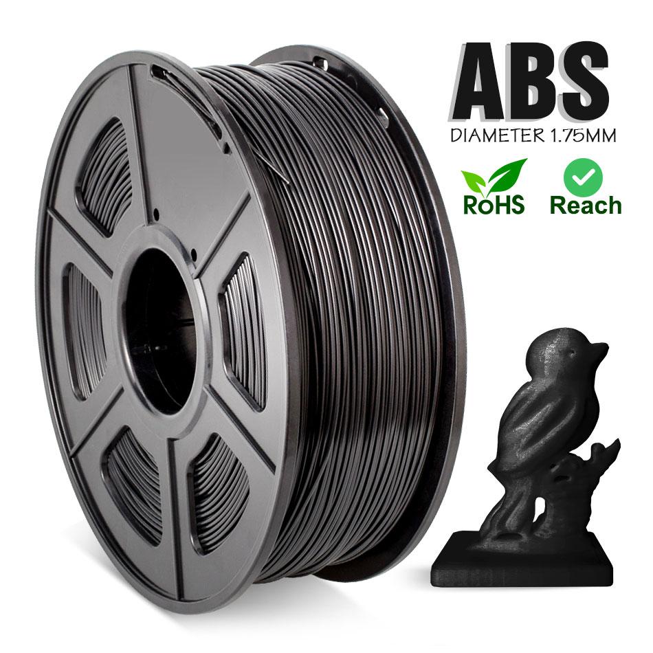 ABS-нить 1,75 мм для 3D-принтера, 1 кг/100% фунта, без пузырьков, отличное качество, черная пластиковая ABS-нить для детских наполнителей