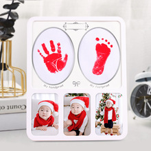 Baby hand and foot print mud newborn hand and foot print baby full moon hundred days gift year old hand print commemorative phot майка борцовка print bar girl and moon