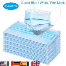 Masque de protection jetable, lot CZ US, lot de 50 à 200 pièces, masques buccaux Non tissés, Anti PM2.5, couvercle facial à particules, respirants et Anti poussière