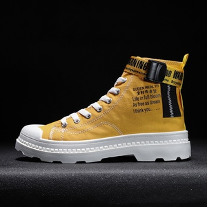 Image 5 - BIGFIRSE 남성 캐주얼 신발 높은 탑 편안한 남성 패션 신발 비 슬립 남성 스니커즈 야외 레저 신발 Zapatillas Hombre