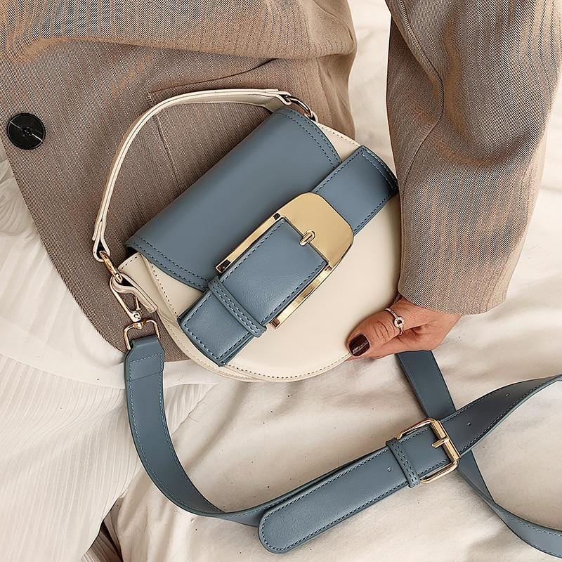 Kontrast Farbe Kleine Umhängetaschen Für Frauen 2020 Neue Qualität PU Leder Frauen Designer Handtaschen Reise Schulter Messenger Taschen