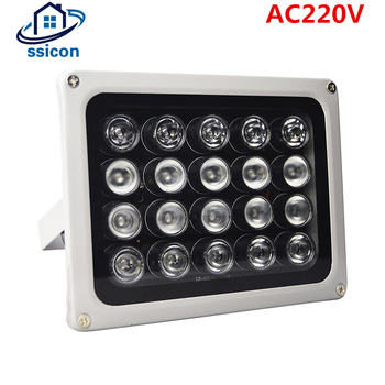 цена на AC 200V 20Pcs Leds IR Illuminators IR Infrared Light LED CCTV Lamp Night-vision IR Fill Light for CCTV Security Camera