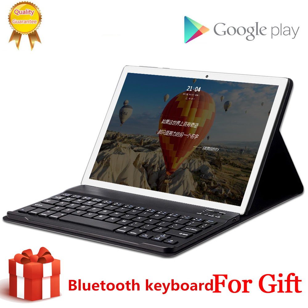Free Gift Bluetooth Keyboard 4G LTE 10.1 Inch Tablet Pc 10 Deca Core MTK6797 8GB RAM 256GB ROM 2560x1600 2.5D Screen Android 8.0
