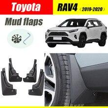 For Toyota RAV4 Mud flaps mudguards fenders splash guard car accessories auto styline Front Rear 4 PCS 2019-2020