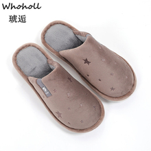 где купить Women Winter Home Slippers Cartoon Cat Shoes Non-slip Soft Winter Warm House Slippers Indoor Bedroom Lovers Couples Floor Shoes дешево