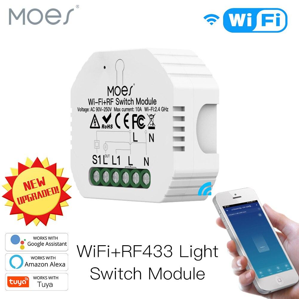 Умный выключатель света с поддержкой Wi-Fi, дистанционное управление через приложение Smart Life/Tuya, работает с Alexa Echo Google Home 1/2