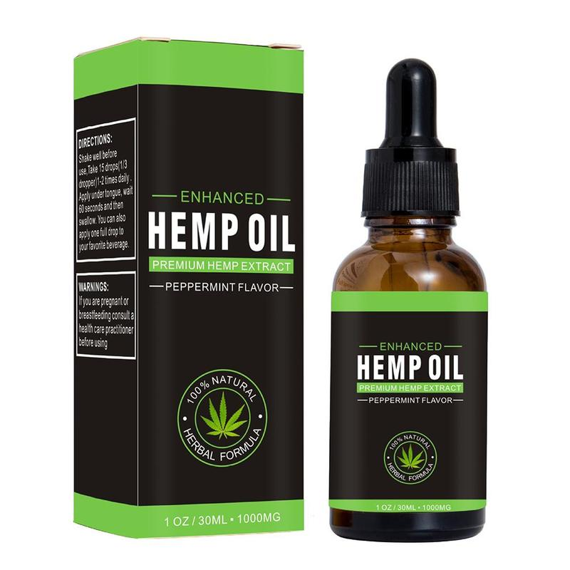 30ml 100% Natural Organic Hemp Oil 1000mg Hemp Seeds Oil Premium Hemp Extract Drop for Pain Relief Reduce Anxiety Better Sleep image