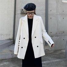 Retro Suit Jacket Female 2020 new Spring Autumn Coats casual loose fork temperam