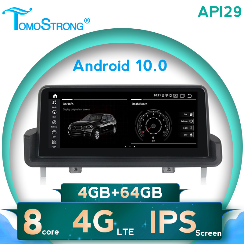 TOMOSTRONG AHD 1280X480 Android 10 IPS screen car radio dvd player for <font><b>BMW</b></font> 3 serise <font><b>E90</b></font> E91 E92 E93 WIFI 4G LTE DVR IDRIVE SWC image
