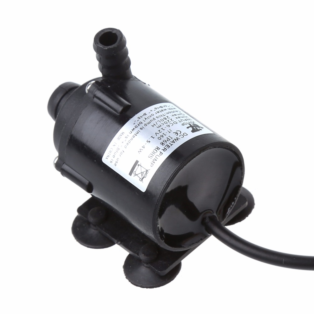 200L/H DC <font><b>12V</b></font> Solar Power Hot Circulation <font><b>Water</b></font> <font><b>Pump</b></font> Brushless Motor Aquarium Pond <font><b>Submersible</b></font> <font><b>Pumps</b></font> image