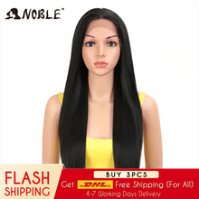 цена на Noble Hair synthetic straight wigs 28 Inch Heat Resistant Fiber Hair Blonde Long Wigs For Women Synthetic Lace Front Wig