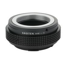 Adaptador shoten para lente de montagem m42 para leica t tl tl2 cl sl sl2 panasonic s1 s1r s1h sigma fp l lentes