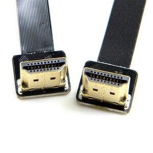 Image 2 - FPV HDMI זכר לנקבה 90 תואר מתאם FPC סרט שטוח כבל HDMI Pitch 20pin עבור Multicopter צילומי אוויר