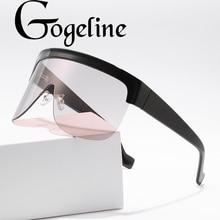 2020 New Windproof Sunglasses Big Frame Shield Visor Women M