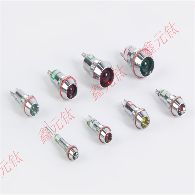 Metal Indicator Light 3V 6V 12V 24V White Red Yellow Green Blue 6 8 10 12 14 16mm Power Signal Lamp Highlight Light 10pcs/lot