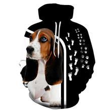 2020 mode Animal chien 3D sweat à capuche imprimé hommes femmes sweat chien conçoit manteau à capuche