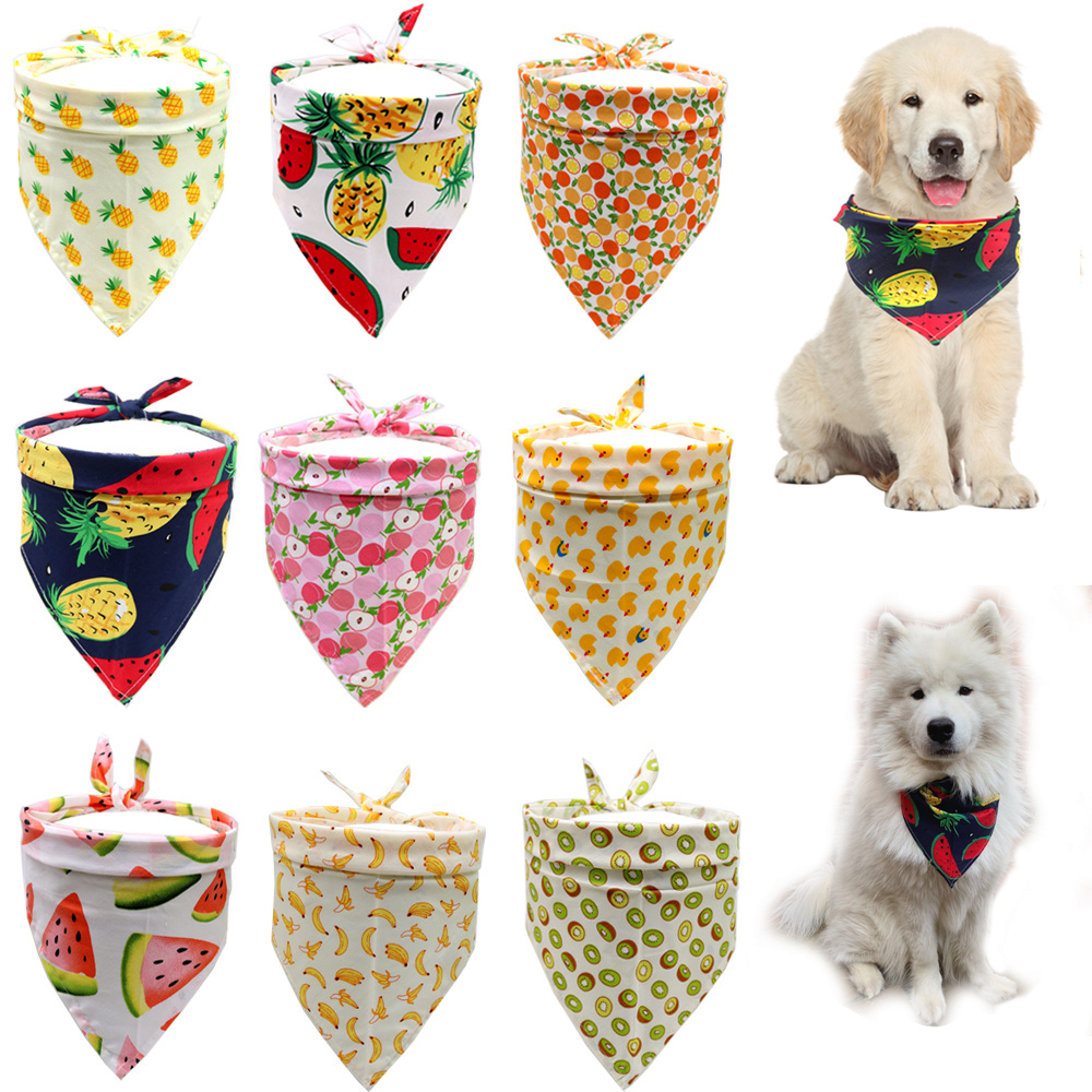 Reversible Seasonal Dog Bandanas 5 Pack