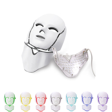 7 Colors Beauty Therapy Photon Led Facial Mask With Facial Neck Skin Rejuvenation Face Care Treatment Beauty Anti Acne Therapy