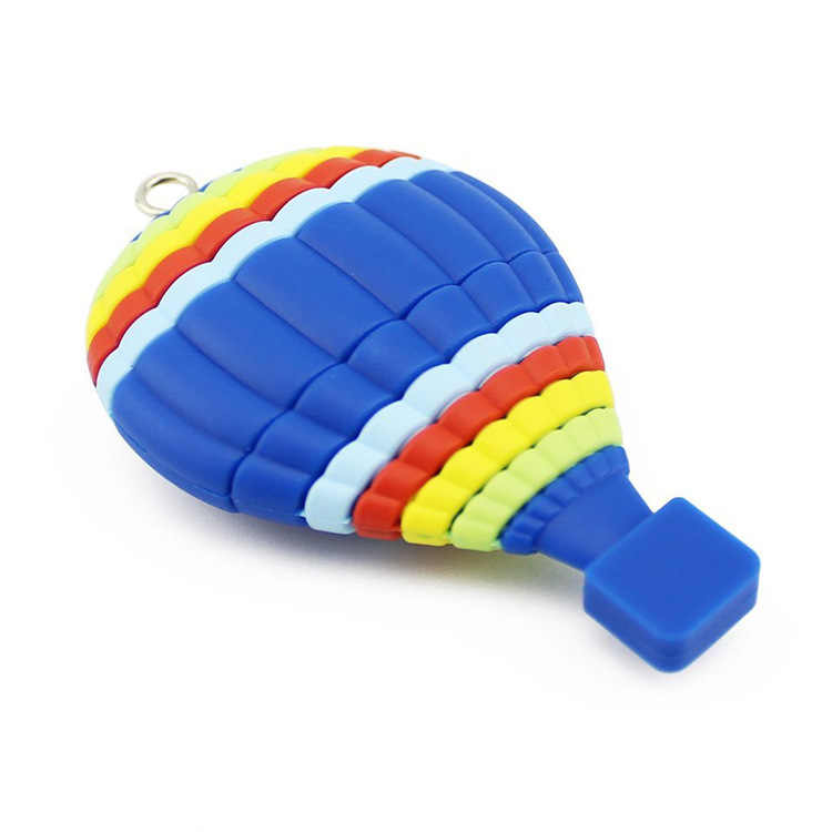 Pen drive para meninas, usb fofo divertido jogo balão de ar quente azul engraçado desenhos animados criativo usb flash drive unidade de esportes
