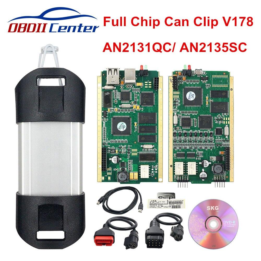 2019 For Renault Can Clip Full Chip Diagnostic Scanner Latest V190 Can Clip OBD2 Diagnostic Interface Tool Reprog V175