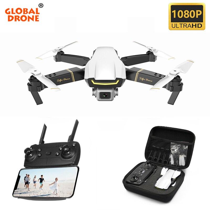 Zangão global gw89 quadcopter com câmera hd 1080 p helicóptero rtf dobrável wifi fpv dron rc zangão x pro vs e58 e520 sg106