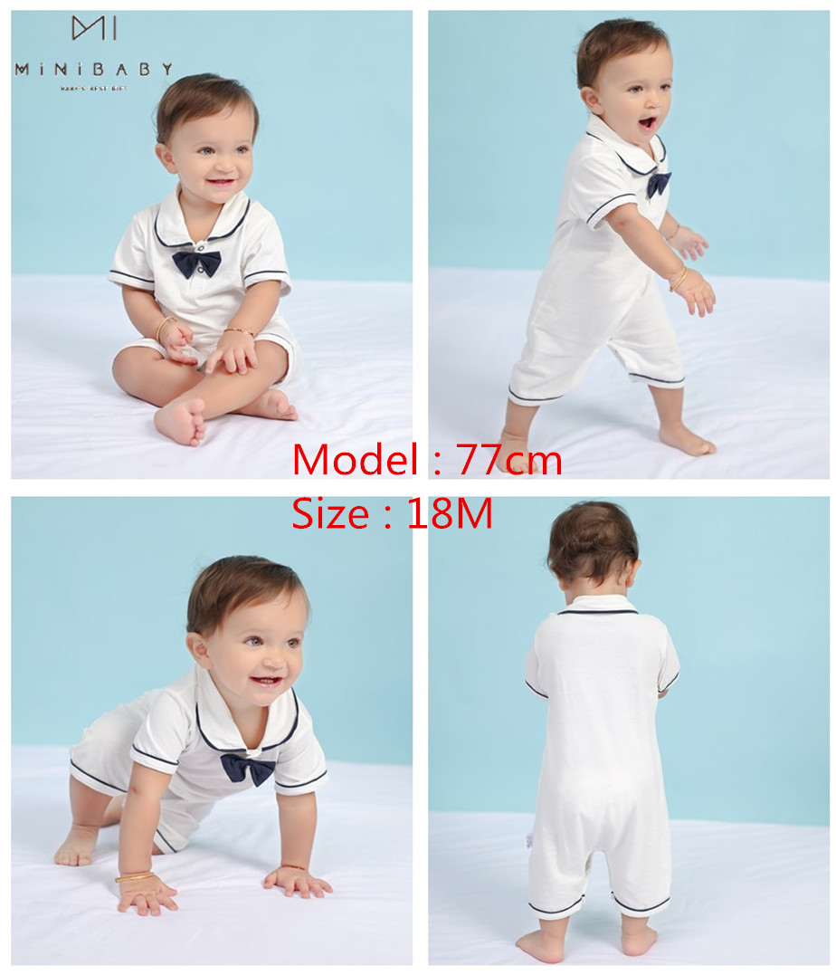 2020 new style Summer Baby Boy gril Rompers 100 Cotton Baby Clothes Gentleman Baby Boys Romper