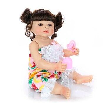 57cm Full Body Silicone Reborn Baby Doll Toys Lifelike Baby-Reborn Princess Doll Child Christmas Gift Girls Brinquedos NPK