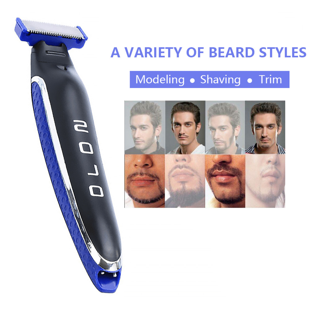 USB Rechargeable Shaver Men's Beard Trimmer OneBlade Face + Advanced Hybrid Electric Trimmer  Fast Hair Shaving Machine