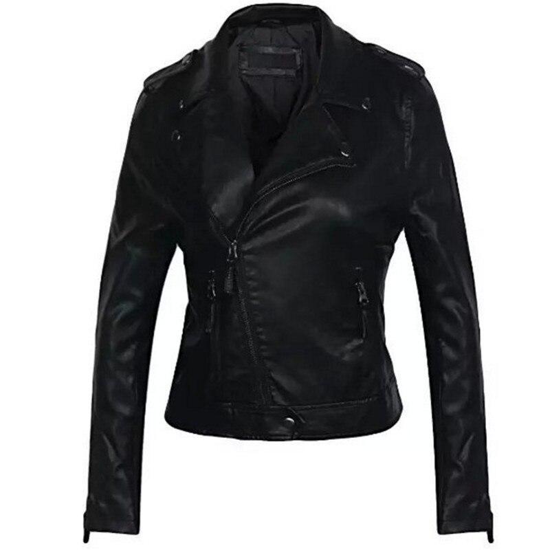 2018 Women Faux   Leather   Jacket Winter Autumn Women Coat Female   Leather   Jacket Zipper Fashion PU   Leather   Jacket Brand Clothing