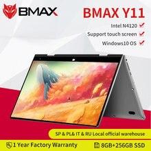 Bmax y11 portátil 11.6 Polegada quad core intel n4120 1920*1080 ips tela 8gb lpddr4 ram 256gb ssd rom notebook windows10