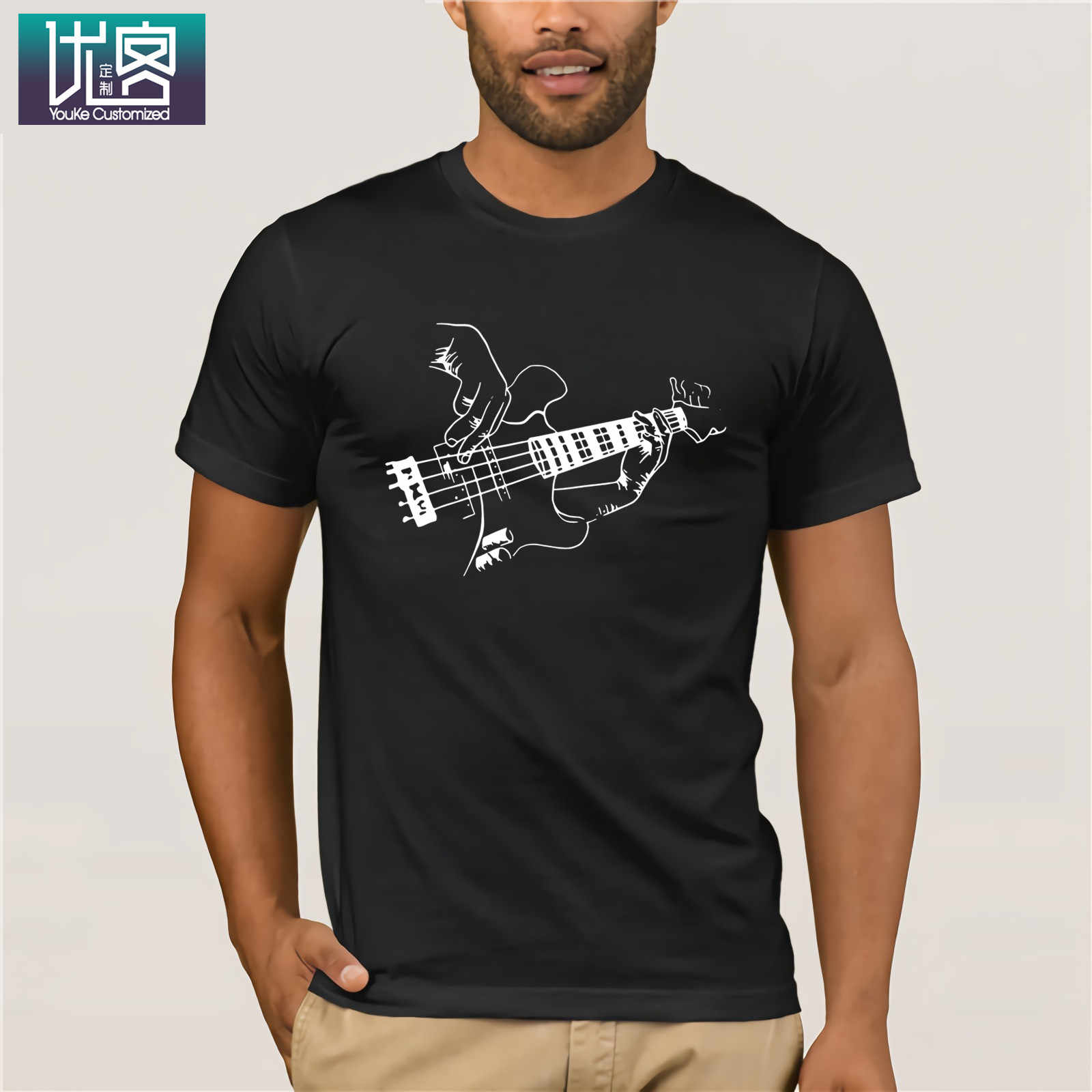 Bass Guitar Player Music Guitarist Musician Rock 2019 Summer Men's Short Sleeve T-Shirt Humor Tee Shirt 100% Cotton Tops Graphic