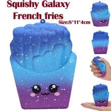 8cm serre Galaxy frites jouets Antistress spongieux compression lente augmentation parfumée Stress soulager la décompression rebond lent
