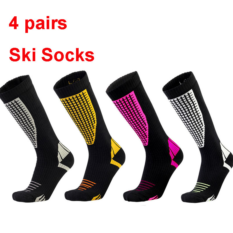 4pairs Ski Socks 2019 Thicken Winter Sports Men Women Waterproof Long Warm Breathable Outdoors Skiing Snowboarding Thermal Socks