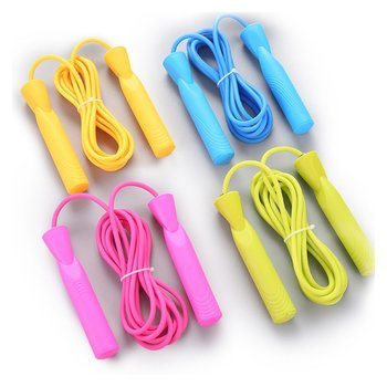 Childrens Professional Skipping Rope Adjustable with Plastic Handle Solid Pvc Jump Children