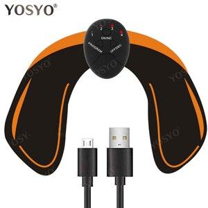 Image 5 - USB Ladegerät EMS Bauch Muscle Stimulator Trainer Elektrische Cellulite Massager Körper Gestaltung Massage Schlank Gürtel